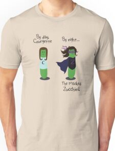 Courgette and The Masked Zucchini: double-life of a vegetable superhero Unisex T-Shirt