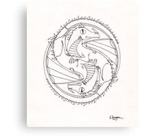 Double Dragon Canvas Print