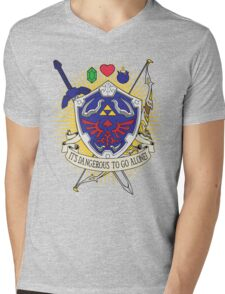 It's dangerous to go alone! Mens V-Neck T-Shirt