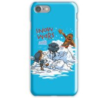 Calvin And Hobbes snow-wars iPhone Case/Skin