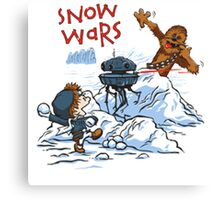 Calvin And Hobbes snow-wars Canvas Print