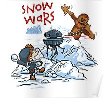 Calvin And Hobbes snow-wars Poster