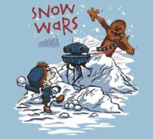 Calvin And Hobbes snow-wars Kids Tee