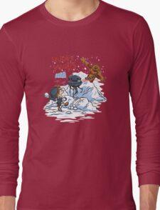 Calvin And Hobbes snow-wars Long Sleeve T-Shirt