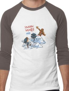Calvin And Hobbes snow-wars Men's Baseball ¾ T-Shirt