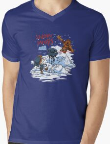 Calvin And Hobbes snow-wars Mens V-Neck T-Shirt
