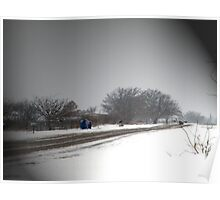 A Winter Path Poster