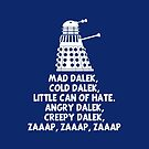 MAD DALEK,COLD DALEK, LITTLE CAN OF HATE...  by karmadesigner