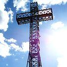 Illuminated cross by Jeanette Muhr