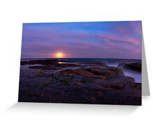 Misty Moonrise_North Narrabeen Greeting Card
