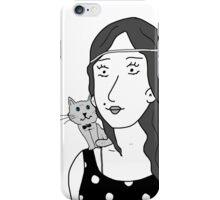 Polka-dot dress and Cat iPhone Case/Skin