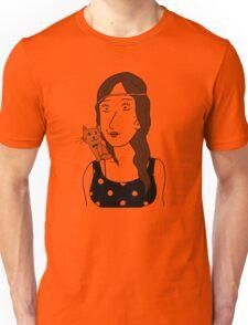 Polka-dot dress and Cat Unisex T-Shirt