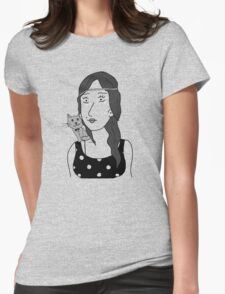 Polka-dot dress and Cat T-Shirt