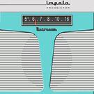 Vintage Transistor Radio - Impala Aqua by ubiquitoid