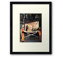 Porch chair, Lydia Street Framed Print