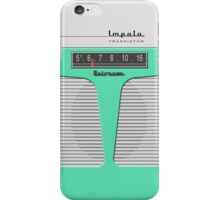 Vintage Transistor Radio - Impala Surf Green iPhone Case/Skin