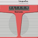 Vintage Transistor Radio - Impala Salmon by ubiquitoid