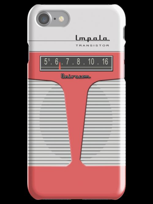 Vintage Transistor Radio - Impala Salmon by ubiquitoid
