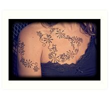 Woman with Henna Art Print