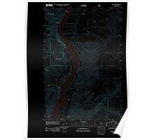 USGS Topo Map Washington State WA Entiat 20110604 TM Inverted Poster