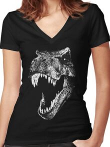 I'm a Dino Fan... Women's Fitted V-Neck T-Shirt