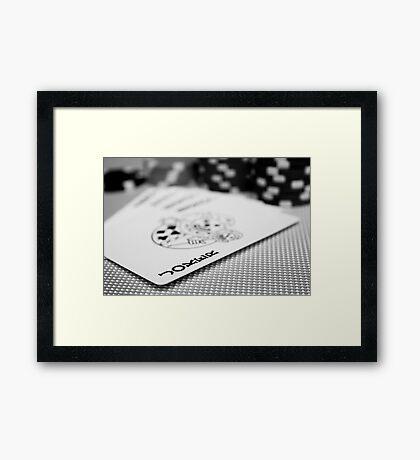 A Winning Hand Framed Print