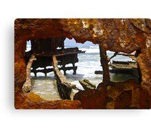 Fraser Island , Maheno Shipwreck  Canvas Print