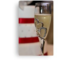 Cake and wine all Canvas Print