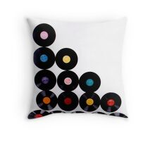 OLD Vinyls  Throw Pillow