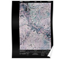 USGS Topo Map Washington State WA Addy 20110428 TM Inverted Poster