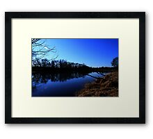 Part 2 by the water, Fox river, Berlin, Wisconsin Framed Print