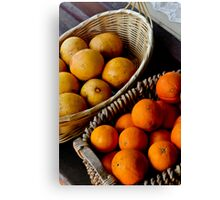 Oranges and Lemons .........its all the same  Canvas Print