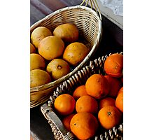 Oranges and Lemons .........its all the same  Photographic Print