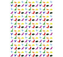 Colourful Dinosaurs Pattern Photographic Print