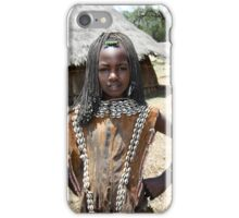 Tsamai woman wearing traditional leather clothing and shell necklace  iPhone Case/Skin