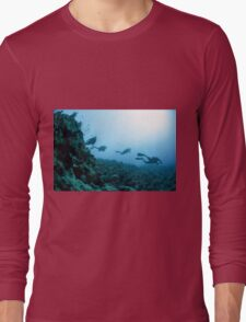 Scuba divers in the water  Long Sleeve T-Shirt