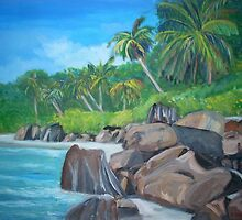 Island of the Seychelles by Teresa Dominici
