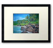 Island of the Seychelles Framed Print