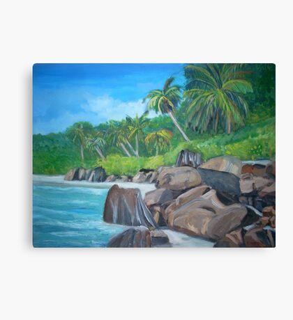 Island of the Seychelles Canvas Print