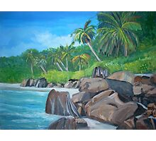 Island of the Seychelles Photographic Print