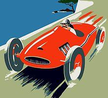 Retro style auto Grand Prix Rivièra by aapshop