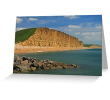 East Cliff at West Bay, Bridport, Dorset Greeting Card