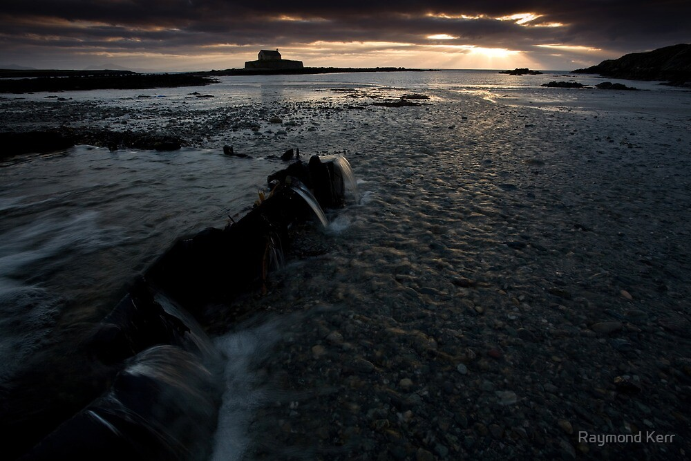 St Cwyfan (A cold winters day) by Raymond Kerr