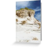 Sand dune cliff Greeting Card