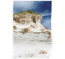 Sand dune cliff Poster