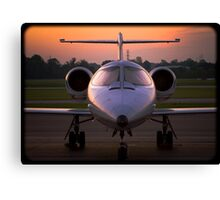 Corporate Jet Canvas Print