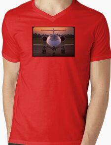 Corporate Jet Mens V-Neck T-Shirt