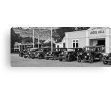 Vintage Cars at Historic Park Canvas Print
