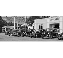 Vintage Cars at Historic Park Photographic Print