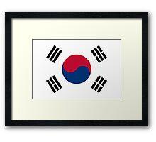 Flag of South Korea Framed Print